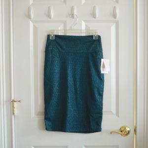 NWT LuLaRoe Cassie Skirt in Patterned Teal